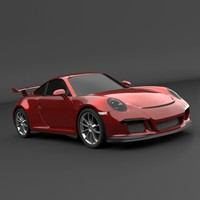 Porsche Carrera 911 GT3 sports car restyled