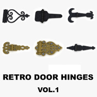 3d retro door gate hinges