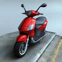 3d model scooter real time