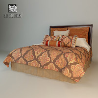 3d model bed tabriz eastern