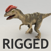 3d model rigged dilophosaurus