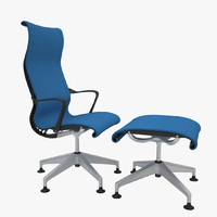 3d herman miller setu lounge chair model