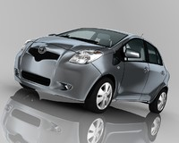 3d toyota yaris 5-door model