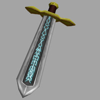 runed broadsword sword 3d model