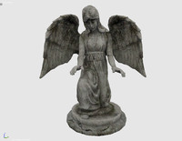 statue angel 3d 3ds