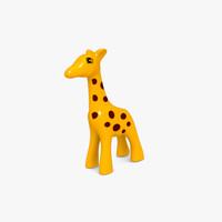 giraffe toy 3d obj