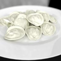 Pelmeni Ravioli Dumplings Plate