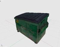 3ds dumpster container 2