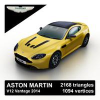 3d model 2014 aston martin v12