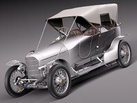 3ds max car classic antique austro