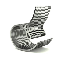 contemporary armchair steel 3d model