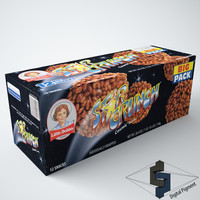 3d model of little debbie star crunch