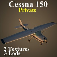 3d cessna 150 private pvt model