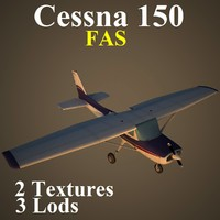3d model of cessna 150 fas