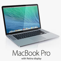 3d model macbook pro retina display