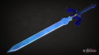 lowPoly MidPoly Master Sword