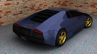 3d lamborgini murcelago model