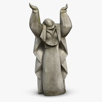 nun sculpture 3d 3ds