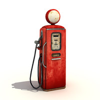 low-poly gas pump 3d 3ds
