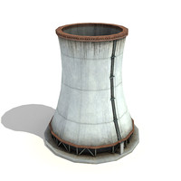 3d big chimney low-poly model