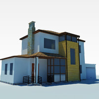 low poly cottage house 3