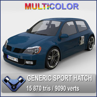 3d generic sports hatchback calypso