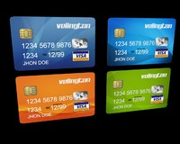 4 Editable Credit Cards