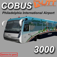 3d model cobus 3000 philadelphia bus