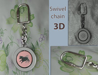 3ds key chain fob