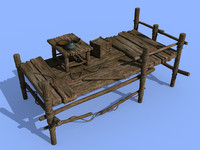 3d small wooden dock model