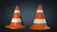 3d model of traffic cones