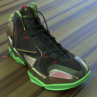 3d model nike lebron xi basketball shoe