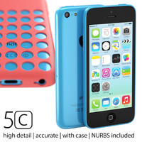 3d model iphone 5c case accurate