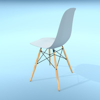 vitra eames plastic chair 3d model