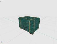 3d cargo box model