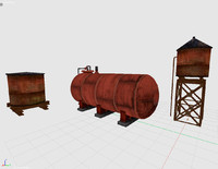 water tower pack 3d 3ds