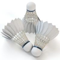 badminton shuttlecock obj