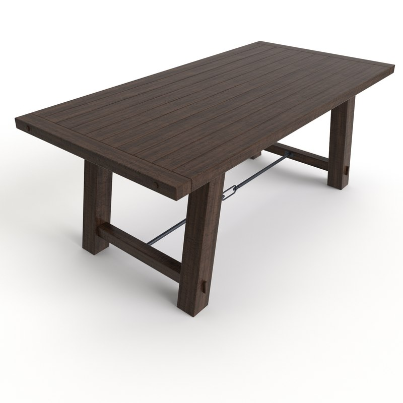 Benchwright Fixed Dining Table: Free Dining Table Benchwright Fixed 3d Model