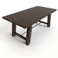 free dining table benchwright fixed 3d model