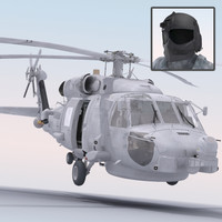 sh-60 seahawk military helicopter 3d model