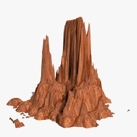 3d mountain rock landscape