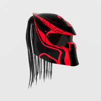 racing predator helmet 3d 3ds