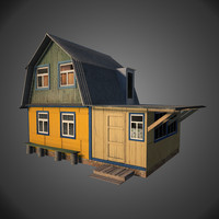 old wooden house fbx