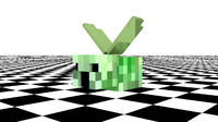 cinema4d minecraft creeper-fly