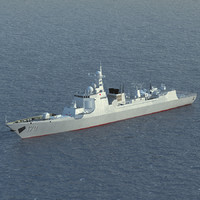 3d type 052c destroyer