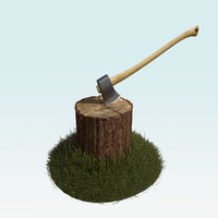 blender chopping block axe