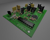 3ds max printed circuit board