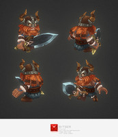 hand painted viking character 3d model