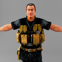 3d model of steven seagal