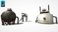 3d model factory buildings